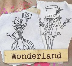 Take a journey to Wonderland with these sketchy storybook designs! Designs download as PDFs; use pattern transfer paper to trace designs for hand-stitching.  	Hand Embroidery  	 $3.00