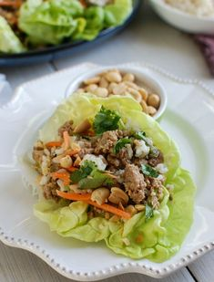 Thai Turkey Brown Rice Lettuce Wraps are healthy and light making the perfect meal for your family. The flavors are wonderful! Get the recipe here! Ground Turkey Lettuce Wraps, Turkey Wraps, Healthy Dinner Recipes, Cooking Recipes, Healthy Dinners, Top Recipes, Easy Recipes, Healthy Lunches, Weeknight Dinners