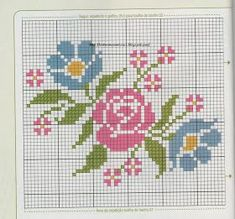 Here you can look and cross-stitch your own flowers. Cross Stitch Cards, Cross Stitch Rose, Cross Stitch Borders, Cross Stitch Flowers, Cross Stitch Designs, Cross Stitching, Cross Stitch Embroidery, Embroidery Patterns, Hand Embroidery