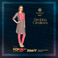 Serendipty welcomes SIMBHA CREATIONS next on board. SIMBHA CREATIONS is a women's fashion clothing brand which deals in ethnic as well as western wear. Preen yourself with their amazing ethnic collection only at #Serendipity #Take10 #ThePopUpShow #LifestyleExhibition #25Feb'17 #CourtyardMarriotGurgaon
