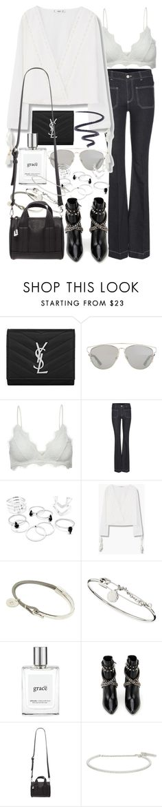 """""""Untitled #9074"""" by nikka-phillips ❤ liked on Polyvore featuring Yves Saint Laurent, Christian Dior, Anine Bing, STELLA McCARTNEY, MANGO, Marc by Marc Jacobs, philosophy, Forever 21, Roberto Marroni and L'Oréal Paris"""
