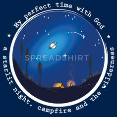 Sany O. Jesus Camping Star Wild Perfect Time God Frauen T-Shirt