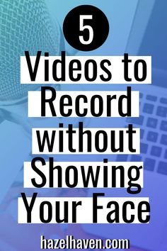 5 Videos You Can Record Without Showing Your Face - Faceless Video Ideas — Lindsey Hazel Marketing Software, Marketing Tools, Content Marketing, Social Media Marketing, Marketing Ideas, Internet Marketing, Free Youtube, You Youtube, Youtube Hacks