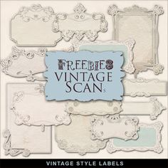 Far Far Hill: Freebies Vintage Style Labels Kit