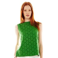 Joe Fresh™ Sleeveless Lace Top - jcpenney