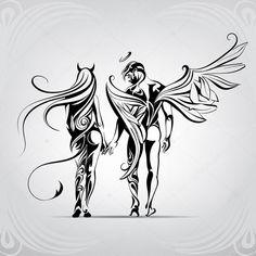 Art dessin ange 51 Ideas for 2019 Body Art Tattoos, Tattoo Drawings, Art Drawings, Sagitarious Tattoos, Pencil Drawings, Tatoos, Engel Tattoo, Ange Demon, Angel And Devil