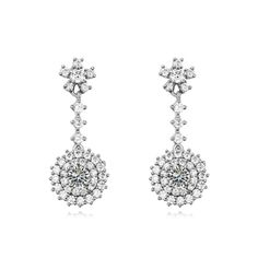 [$5.21] Micro Pave Cz Earrings - Emily (Specification: White)