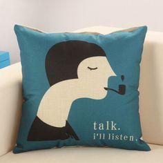 U.S. SELLER Cool Quote ThemeToss Throw Home Decor Cushion PillowCase   #Handmade