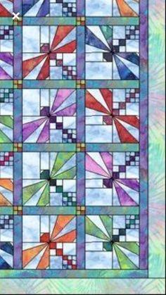 ~ Dragon fly quilt block from fb #QuiltBlocks - ByNotio.com
