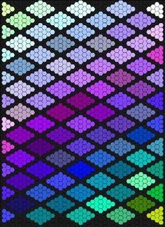 the design concept for a hexagon quilt