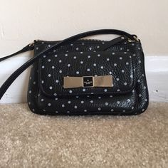 Kate Spade polka dot crossbody Gently used! Approximately 5 inches tall x 7 inches wide. Strap is 21 inches from the zipper. kate spade Bags Crossbody Bags