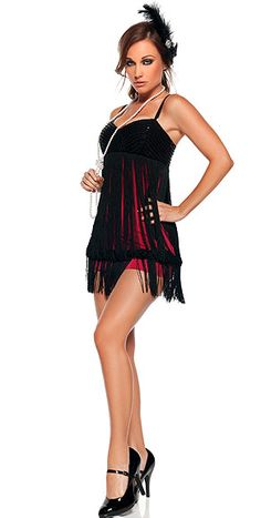 Sexy Flapper Costume.  Always wanted to be a flapper for Halloween