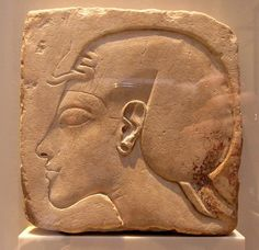 https://flic.kr/p/aQjdQk | Sunk relief of a royal head in profile | From Amarna New Kingdom, 18th dynasty Neues Museum, Berlin
