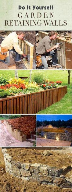 DIY Garden Retaining Walls • Lots of tips, ideas and tutorials!!
