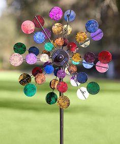 http://www.zulily.com/invite/kripley070 This Solar Sparkler Wind Spinner Garden Stake is perfect! #zulilyfinds