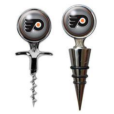 Philadelphia Flyers Cork Screw & Wine Bottle Topper Set $33.29
