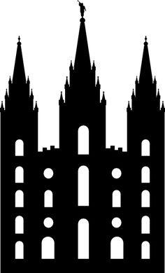 Lds Temple Clipart - Clipart Suggest Silhouette Clip Art, Silhouette Projects, Foyers, Arte Lds, Lds Clipart, Vector Clipart, Vectors, Temple Drawing, Slc Temple