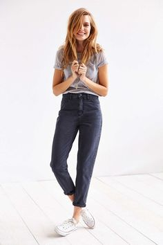 BDG The Mom Jean - Black - Urban Outfitters