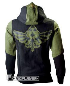 The Legend of Zelda Zipper Hoodie: Character (Black/Green) Bioworld