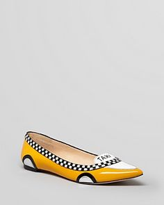 kate spade new york Pointed Toe Flats - Go Taxi Ballet | Bloomingdale's