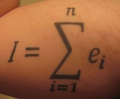 the math geek in me loves this - I am the sum of all my experiences