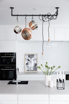 Kitchen with industrial details