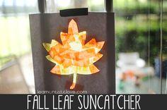 Fall Leaf Suncatcher