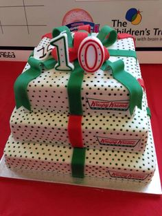 Krispy Kreme Grooms Cake something like this but with the
