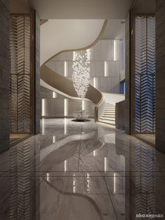 The most amazing luxury homes ever: brilliant architecture and brilliant interior design project Lobby Interior, Luxury Interior, Modern Interior Design, Interior Architecture, Interior And Exterior, Interior Paint, Hotel Lobby Design, Modern Hotel Lobby, Industrial Interiors