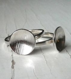 Shimmering Moon Silver Ring by k.o'brien jewelry