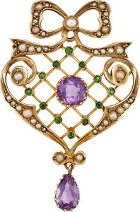 Votes for Women - A Suffragette Brooch - Brooch of the Month - March 2017