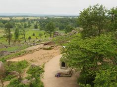 The view from Little Round Top in Gettysburg, Pennsylvania.