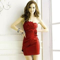 Women Backless Sexy Strapless Dress
