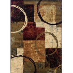 @Overstock.com - Brown/Black Area Rug (67 x 96) - Showcase your personal style with this black and brown area rug. The rug features a modern art design with interwoven red, gold, beige, and blue on the black and brown material that creates a beautiful geometric pattern perfect for almost any room.  http://www.overstock.com/Home-Garden/Brown-Black-Area-Rug-67-x-96/6206528/product.html?CID=214117 $222.29