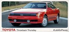 Dreamt up in the sun, the 1989 #Celica was designed in Newport Beach, CA. #TBT #CaliforniaDreaming