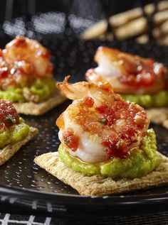 Cater to your bad side with something deliciously good, and whip up Deviled Shrimp served atop TRISCUIT Crackers.