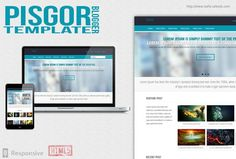 Pisgor Blogger Template is a template for blogspot users, this very unique template with portfolio style for your personal portfolio, to show your digital work or your photo.