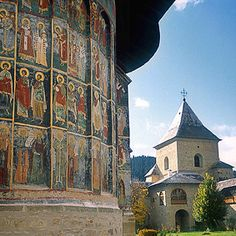 Painted Monasteries, Bucovina, Romania  We stayed at Pensiunea Manoir Mignon in Campulung Moldovenesc and toured the monasteries by car.
