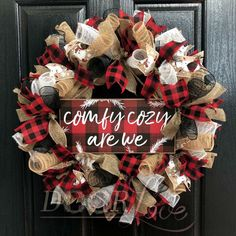 Buffalo Plaid Comfy Gemütlich sind wir Kranz - New Ideas Christmas Mesh Wreaths, Burlap Christmas, Christmas Decorations, Holiday Decor, Door Wreaths, Winter Wreaths, Christmas Stuff, Holiday Ideas, Christmas Ideas