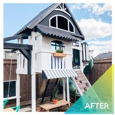 If this playhouse from @dashlifestyles isn't playhouse makeover goals, then we don't know what is 🤩. With a little elbow grease, a lot of love, and a little help from Varathane and Painter's Touch, she completely transformed this playhouse! #DoItOutsideDIY #PlayUpgrade . #RustoleumCAN #DIY #DIYer #DIYProject #OutdoorLiving #Playhousemakeover #DIYKidsProjects #DIYmom #OutdoorPlayhouse #KidsPlayhouse #OutdoorSpaces Diy Playhouse, Playhouse Outdoor, Backyard Projects, Cool Diy Projects, Outdoor Spaces, Outdoor Living, Outdoor Decor, Snake Plant, Kids Corner