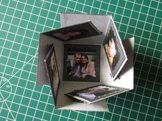Nouvel atelier demain et nouveau projet : la mini boite à explosion Comme pour le précédent tuto, je me suis aidé du net et de quelques magasines pour réaliser cette boite, puis j'ai refais un tuto personnel pour vous en faire profiter. 1- Prendre 2 papiers...