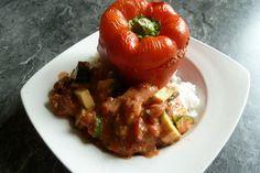Gefüllte Paprika mit Hackfleisch, Feta und Zucchini 1