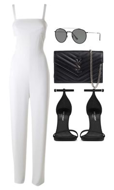 """""""Untitled #4841"""" by lilaclynn ❤ liked on Polyvore featuring T By Alexander Wang, Yves Saint Laurent, Ray-Ban, YSL, AlexanderWang, rayban, saintlaurent and yvessaintlaurent"""