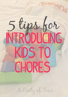 We all hate chores but children especially need a little extra push. Here are 5 tips for introducing your kids to chores!