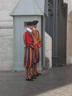 Swiss Guards at the Vatican.  Rome, Italy