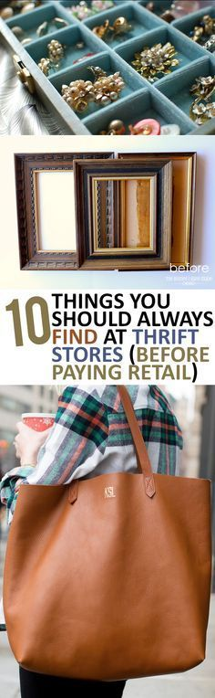 10 Things You Should Always Find at Thrift Stores (Before Paying Retail)- great ways to save money thrifting and buying stuff at thrift stores before paying full price