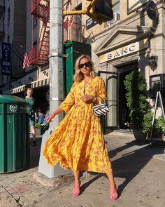 Dress, at Zara - Wheretoget Fashion Poses, Fashion Dresses, Jacket Dress, Dress Skirt, Yellow Floral Dress, Blouse Outfit, Zara Dresses, Dress Sandals, Buy Dress