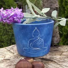 Hand dyed flower pot Hand Painted Flower pot Buddha hand