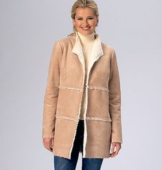 This is a perfect sewing pattern for all your unique fabrics and faux furs. Kwik Sew jacket pattern with two different views. K4139, Misses' Jackets