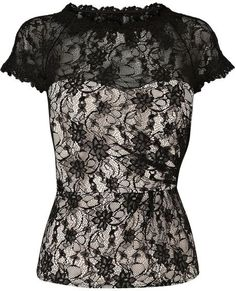 Cute! #Gothic #Fashion #Lace I don't do GOTH but with a long skirt or A-line and pearls, it can be Audrey Hepburnish. :]
